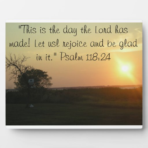 """""""This is the day the Lord has made"""" plaque"""