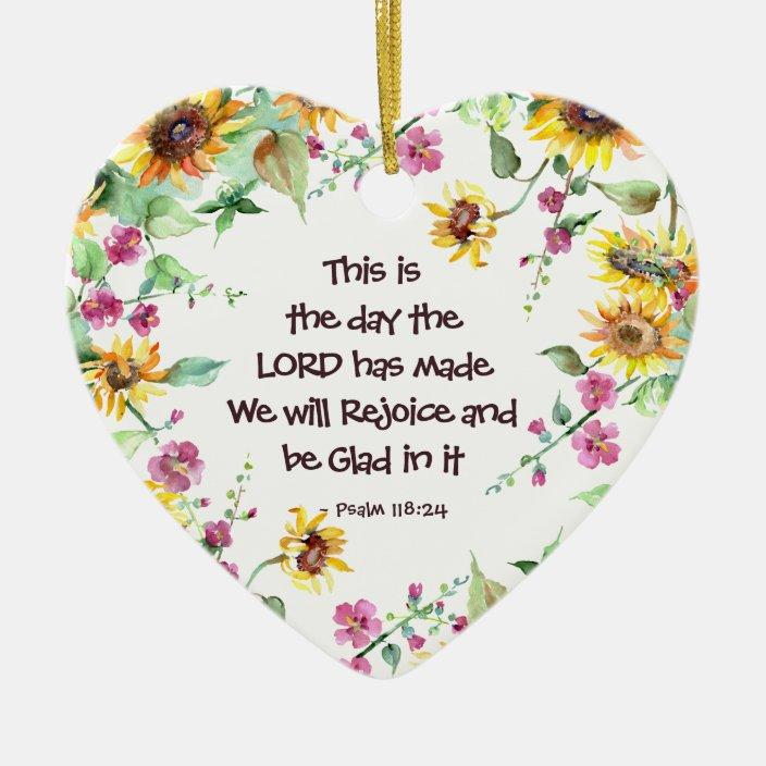 Psalm 118:24 scripture in clay Scripture tile