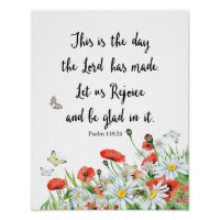 This is the day the Lord has Made Psalm Poster