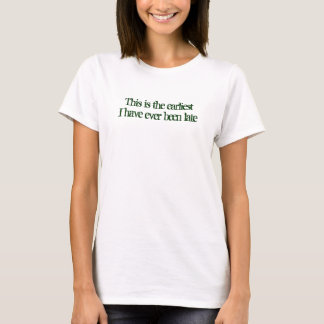 This is the earliest T-Shirt