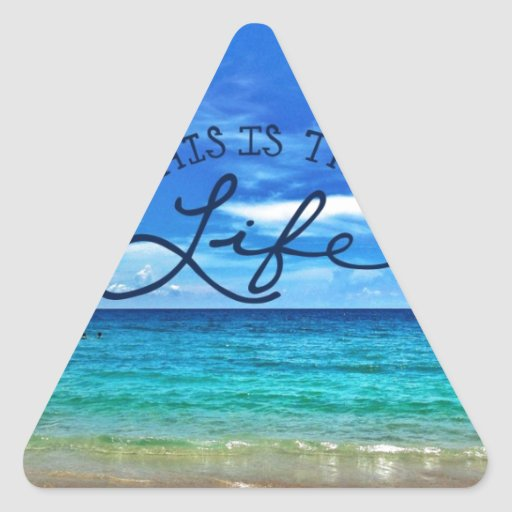 This is the Life Triangle Stickers