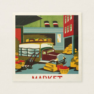 This is the Market... Paper Napkin