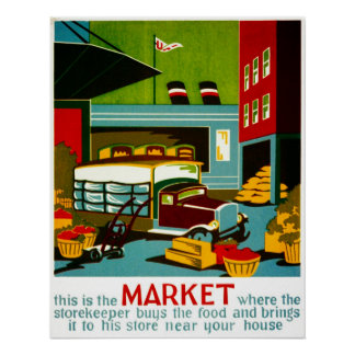 This is the Market Vintage WPA Poster