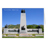 """""""This is the Place"""" Monument - Utah Greeting Card"""
