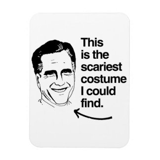 THIS IS THE SCARIEST COSTUME I COULD FIND ROMNEY RECTANGULAR PHOTO MAGNET