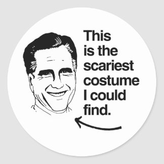 THIS IS THE SCARIEST COSTUME I COULD FIND ROMNEY STICKERS