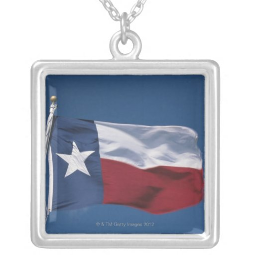 This is the State Flag flying in the wind. it is Pendant