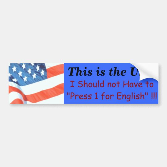 This is the USA Bumper Sticker