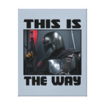 This Is The Way - Mandalorian Profile Canvas Print
