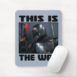 This Is The Way - Mandalorian Profile Mouse Pad