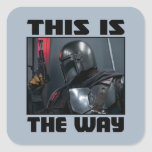 This Is The Way - Mandalorian Profile Square Sticker