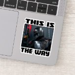 This Is The Way - Mandalorian Profile Sticker