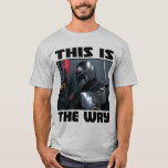 This Is The Way - Mandalorian Profile T-Shirt