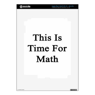 This Is Time For Math iPad 3 Decals