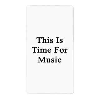 This Is Time For Music Custom Shipping Label