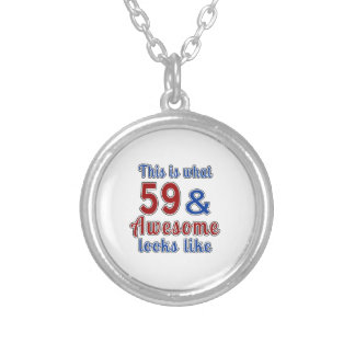 This is what 59 and awesome look like round pendant necklace