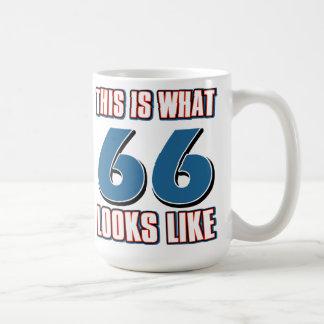 This is what 66 years lool like classic white coffee mug