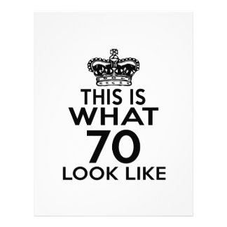 This Is What 70 Look Like Letterhead