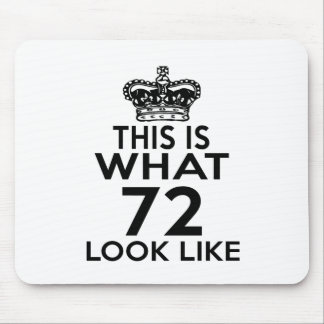 This Is What 72 Look Like Mouse Pad