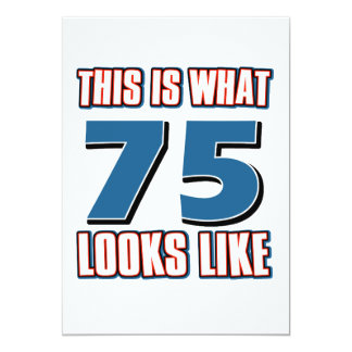 This is what 75 years lool like card