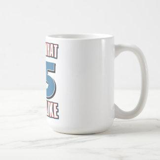 This is what 75 years lool like classic white coffee mug