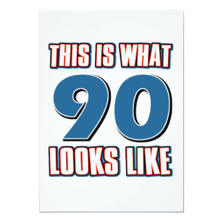 This is what 90 years lool like card