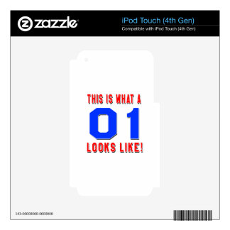This is what a 01 looks like skin for iPod touch 4G