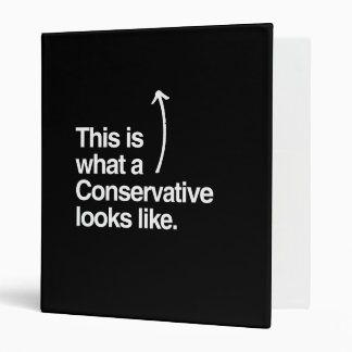THIS IS WHAT A CONSERVATIVE LOOKS LIKE png Vinyl Binders