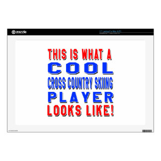 """This Is What A Cool Cross Country Skiing Player Lo Skin For 17"""" Laptop"""