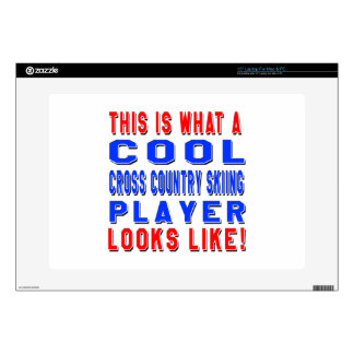"""This Is What A Cool Cross Country Skiing Player Lo Decals For 15"""" Laptops"""