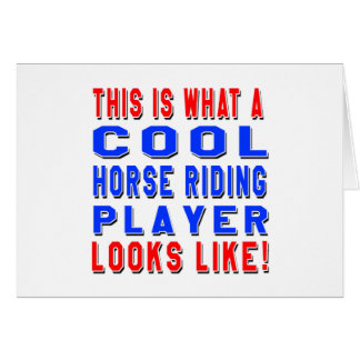 This Is What A Cool Horse Riding Player Looks Like Card