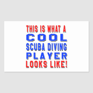 This Is What A Cool Scuba Diving Player Looks Like Rectangle Sticker