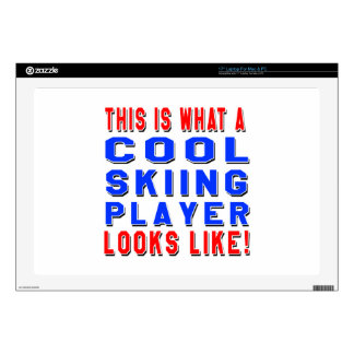 """This Is What A Cool Skiing Player Looks Like Decals For 17"""" Laptops"""