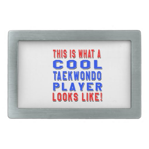 This Is What A Cool Taekwondo Player Looks Like Rectangular Belt Buckle