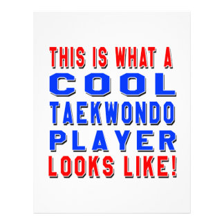 This Is What A Cool Taekwondo Player Looks Like Letterhead