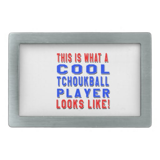 This Is What A Cool Tchoukball Player Looks Like Rectangular Belt Buckles