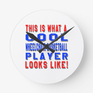 This Is What A Cool Wheelchair Basketball Player L Wall Clock