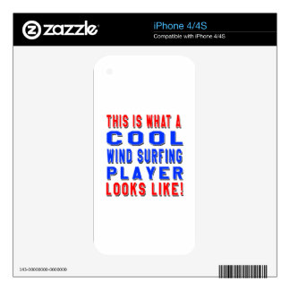 This Is What A Cool Wind Surfing Player Looks Like Decal For The iPhone 4S