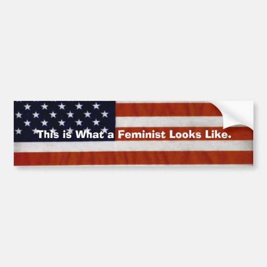 This is What a Feminist Looks Like - Flag Bumper Sticker