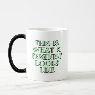 This is what a feminist looks like 11 oz magic heat Color-Changing coffee mug
