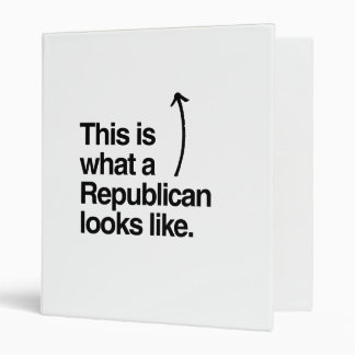 THIS IS WHAT A REPUBLICAN LOOKS LIKE png 3 Ring Binder