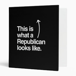 THIS IS WHAT A REPUBLICAN LOOKS LIKE png Binders