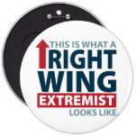 This is what a Right Wing Extremist Looks Like Buttons
