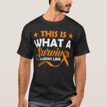 This is What a Survivor look like Orange ribbon T-Shirt