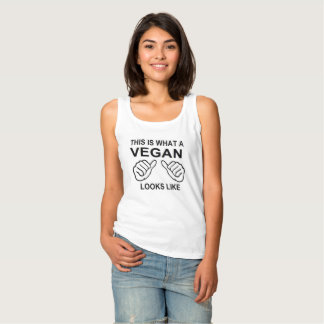 This Is What A Vegan Looks Like humor Funny Basic Tank Top