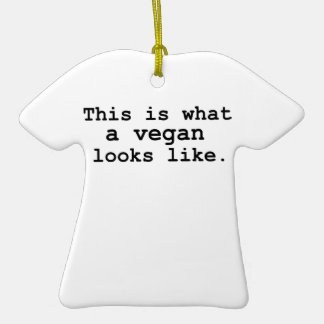 This is what a vegan looks like. ceramic T-Shirt decoration