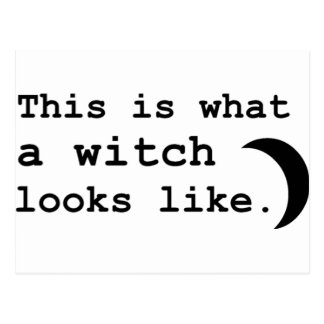 This is what a witch looks like. postcard