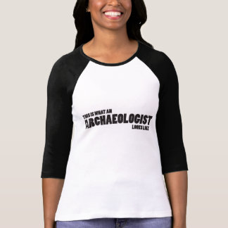 """This is what an archaeologist looks like"" Raglan T Shirt"