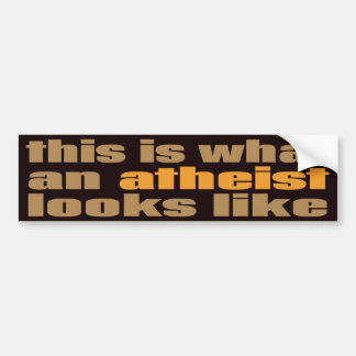 This is what an atheist looks like car bumper sticker