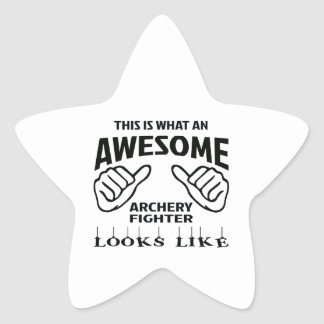 This is what an awesome Archery Fighter looks like Star Sticker